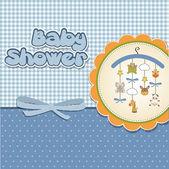 Tarjeta de anuncio Bienvenido bebé — Foto de Stock