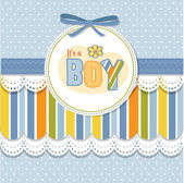 Baby boy announcement card — Foto de Stock