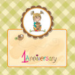 Little girl on the first anniversary — ストック写真