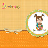 Little girl on the first anniversary — Stock Photo