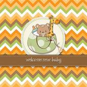 Childish cartoon greeting card — Stock Photo