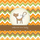 New baby shower card with cat — Stock Photo