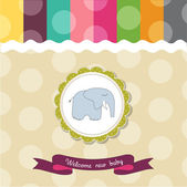 Baby shower card template with elephant — Stock Photo