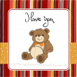 Stock Photo: Love card with a teddy bear