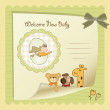 Stock Photo: baby shower card
