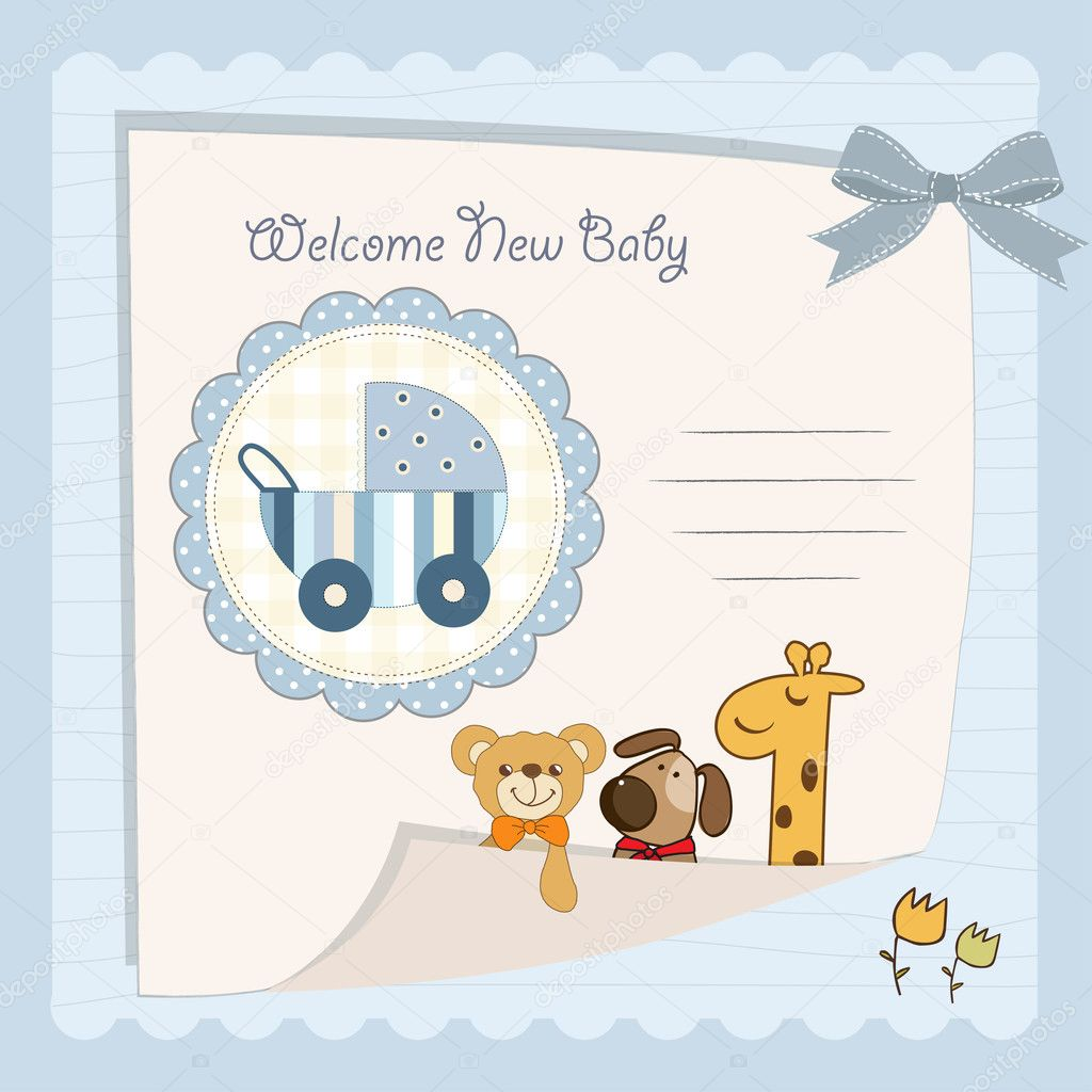 Baby Boy Shower Card U2014 Stock Photo © ClaudiaBalasoiu #12044529