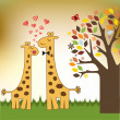 Funny giraffe couple in love — Stock Photo #12077484