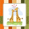 couple Funny girafe amoureuse — Photo