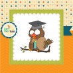 Owl Teacher in vector format — Stock Photo