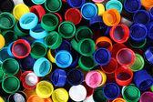Color plastic caps — Stock Photo