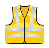 Yellow vest — Stock Vector