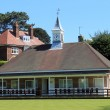 Stock Photo: Bowling green pavilion