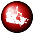 Canada map button — Stock Photo