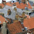 Stock Photo: Old house roofs