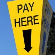 Pay here sign — Foto de Stock