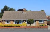 Two semidetached English bungalow houses — Stock Photo