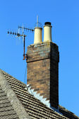 Chimney on roof — Stock Photo