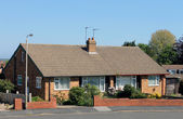 English bungalow houses — Stock Photo