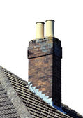 Chimney on roof isolated — Stock Photo