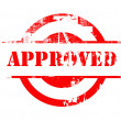 Approved red stamp — Foto de Stock