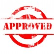 Approved red stamp — Stockfoto