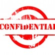 Confidential red stamp — Foto Stock