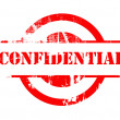 Confidential red stamp — Foto de Stock
