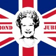 Diamond Jubilee Union Jack flag — Stock Photo #10874163