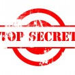 Top Secret red stamp — Foto Stock