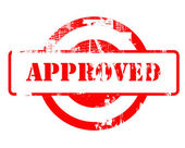 Approved red stamp — Photo