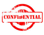 Confidential red stamp — Stock Photo