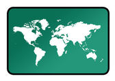 World map sign — Stock Photo
