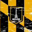 Baltimore city flag — Stock Photo