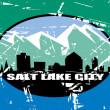 Salt Lake city flag — Stock Photo