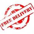 Free Delivery red stamp — 图库照片