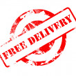 Free Delivery red stamp — Stok fotoğraf