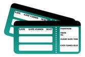 Blank boarding card passes — Stock Photo