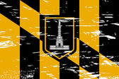 Baltimore stadt flagge — Stockfoto