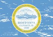 Boston city flag — Stock Photo