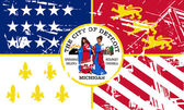 Detroit city flag — Stock Photo