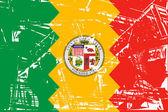 Los Anglese city flag — Stock Photo
