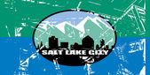 Salt Lake city flag — Stock Photo