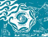 Seattle city flag — Stock Photo