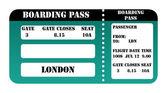 London 2012 boarding pass — Stock Photo