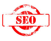 SEO red stamp — Stock Photo