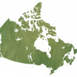 Canadian map on green paper — Stok fotoğraf