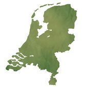 Netherlands map on green paper — Stock Photo
