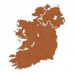 Textured map of Ireland — Stock Photo