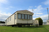 Modern static caravan — Stock Photo
