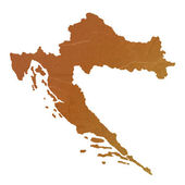 Textured map of Croatia — Stockfoto